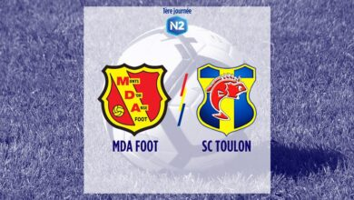 Photo of N2, J1 : MDA FOOT – SC TOULON
