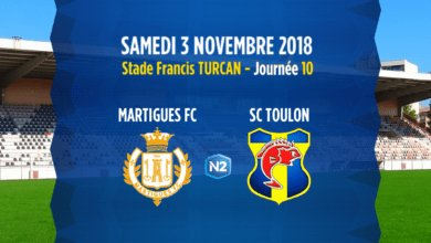 Photo de N2 J10, FC MARTIGUES – SC TOULON
