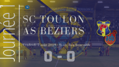 Photo of J1 : SC TOULON – AS BEZIERS, le compte-rendu