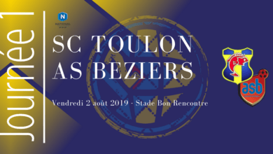 Photo of National J1 : SC TOULON – AS BEZIERS